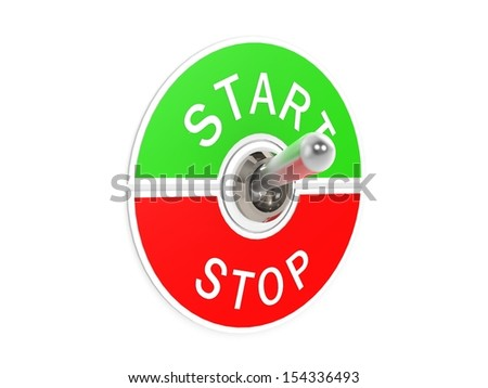 Start stop toggle switch - stock photo
