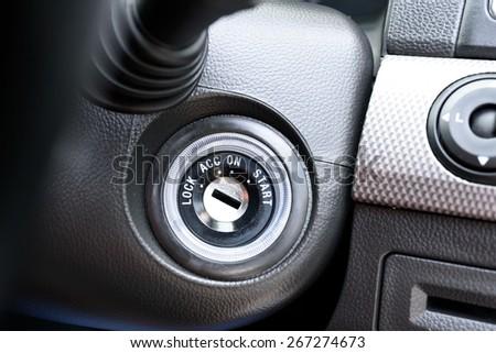 start the car - stock photo