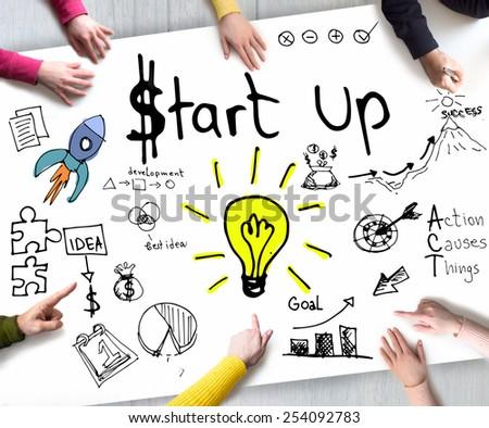 Start Up Business - stock photo