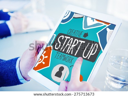 Start Up Launch Growth Success Idea Business Concept - stock photo