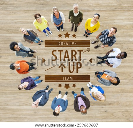 Start Up Plan Strategy Business Opportunity Growth Concept - stock photo