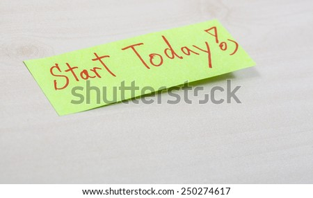 started today - stock photo