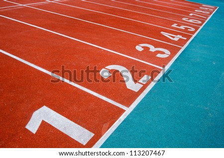 Starting grid of race track at the stadium - stock photo