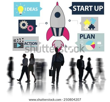 Startup Innovation Planning Ideas Team Success Concept - stock photo