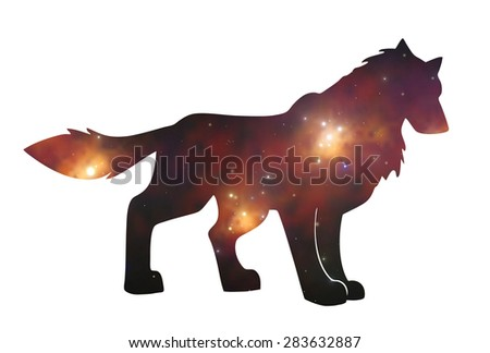 Starwolf - stock photo