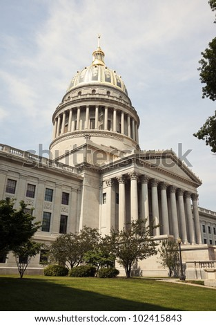 State Capitol Building in Charleston, West Virginia, USA - stock photo