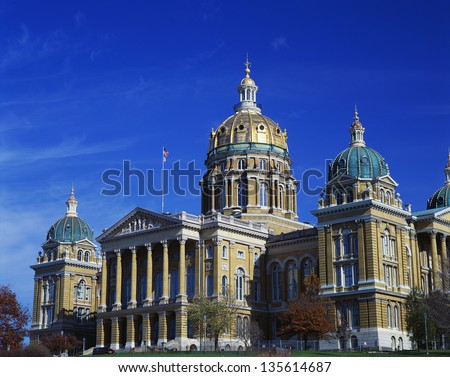 State Capitol of Iowa in Des Moines - stock photo