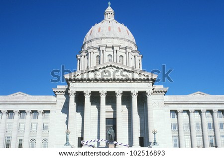 State Capitol of Missouri, Jefferson City - stock photo