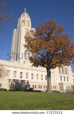 State Capitol of Nebraska in Lincoln - stock photo