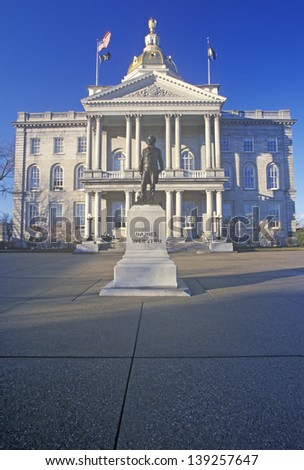 State Capitol of New Hampshire in Concord, NH - stock photo