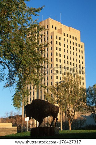 State Capitol of North Dakota, Bismarck - stock photo