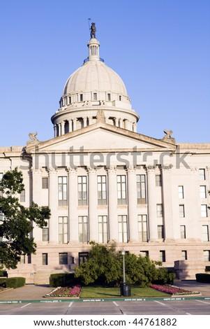 State Capitol of Oklahoma in Oklahoma City. - stock photo