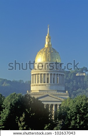 State Capitol of West Virginia, Charleston - stock photo