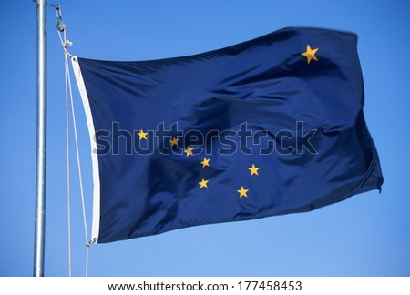 State Flag of Alaska - stock photo
