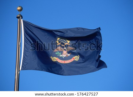 State Flag of North Dakota - stock photo