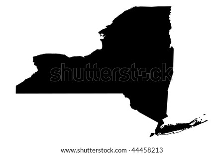 State of New York - white background - stock photo