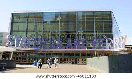 Staten Island Ferry Terminal Building - stock photo