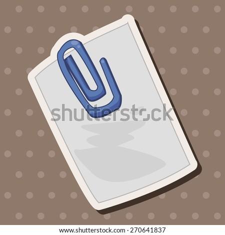 stationary note, cartoon stickers icon - stock photo