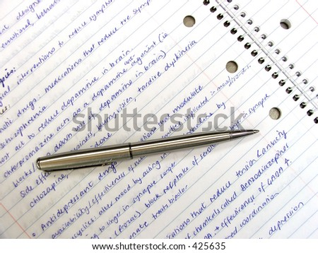 Stationary-Pen and Notebook - stock photo