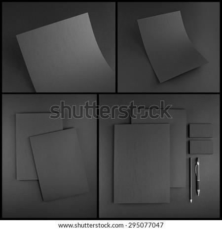 Stationery set design. Stationery template. Corporate identity - stock photo