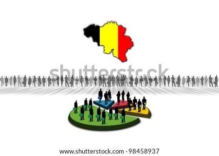 Statistics: Belgium - stock photo