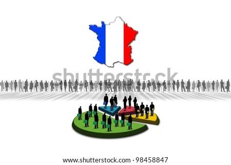 Statistics: France - stock photo