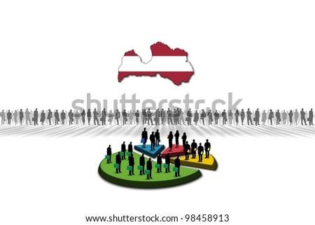 Statistics: Latvia - stock photo