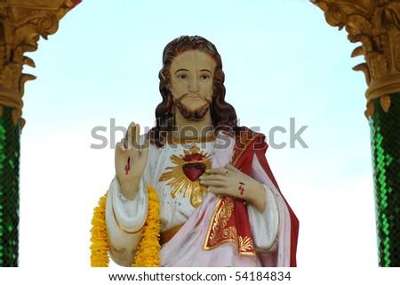 Statue Christ - stock photo