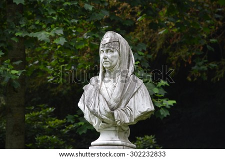 Statue in a park  - stock photo