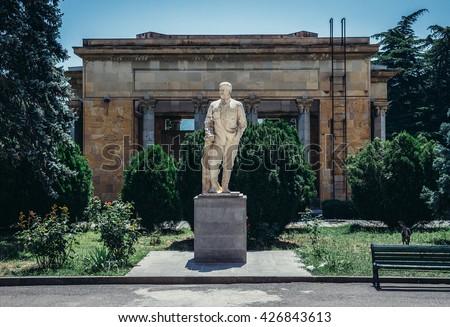 Statue in front of Joseph Stalin Museum in Gori town, Georgia - stock photo