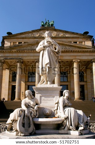 statue in Gendarmenmarkt square, Berlin - stock photo