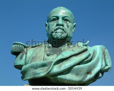 statue in Lausanne Switzerland - stock photo