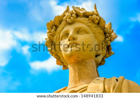 statue made of marble in Bang Pa In palace, thailand - stock photo