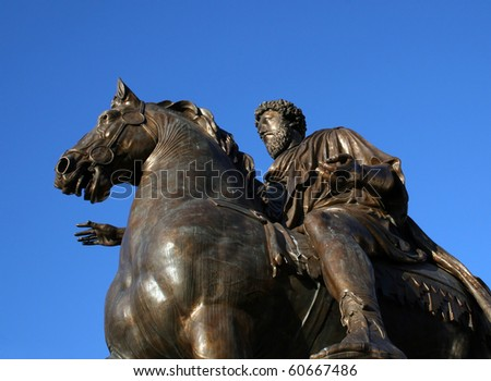 Statue Marcus Aurelius Equestria - stock photo