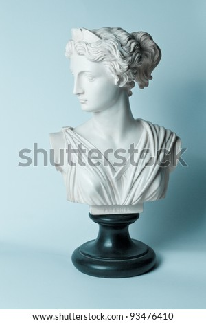 statue of artemis(diana) goddess - stock photo