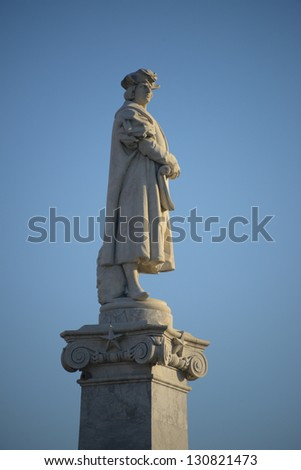Statue of Chistopher Columbus in Buenos Aires - stock photo