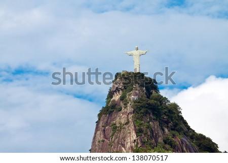 Statue of Christ Redeemer, Rio de Janeiro - stock photo
