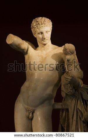 Statue of Hermes - stock photo