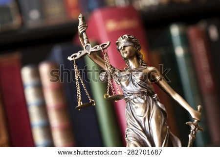 Statue of justice - stock photo