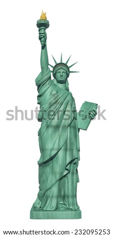 Statue of Liberty - front view - stock photo