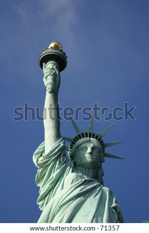 Statue of Liberty in New York City -4 - stock photo