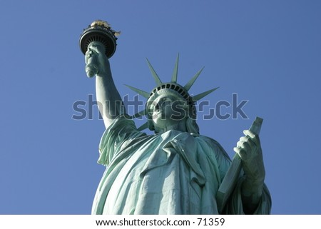 Statue of Liberty in New York City -6 - stock photo
