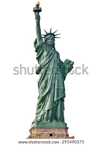 Statue of Liberty in New York City isolated. - stock photo
