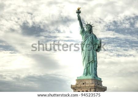 Statue of Liberty, New York City, USA, HDR - stock photo