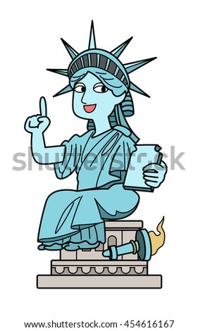 Statue of Liberty - point - stock photo