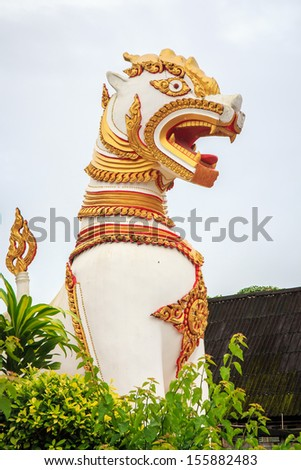 Statue of Lion. - stock photo