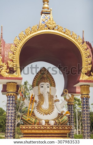 statue of Lord Ganesha in Southeast Asia - stock photo