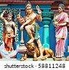 Statue of Lord Siva - stock photo
