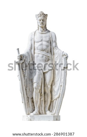 Statue of Ludovicus Magnus in the City of Szekesfehervar, Hungary - stock photo