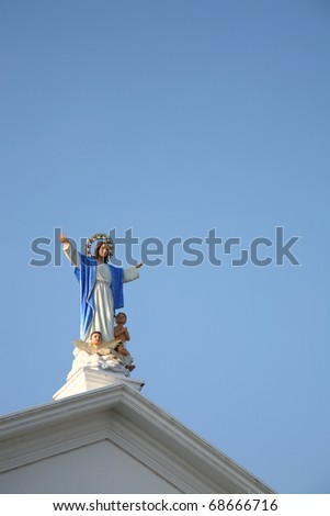 Statue of Madonna - stock photo